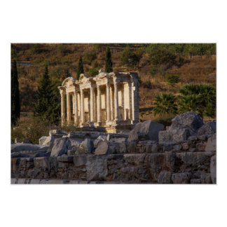 Library Of Celsus Ruins Poster