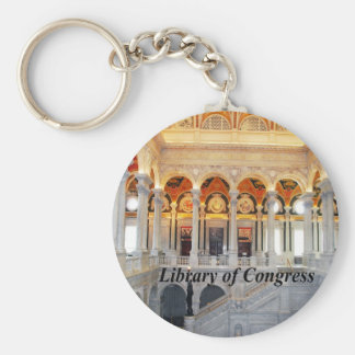 Library of Congress Basic Round Button Keychain