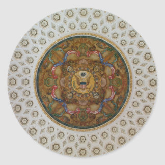 Library of Congress Ceiling Classic Round Sticker