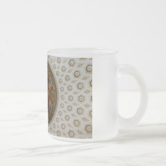 Library of Congress Ceiling Frosted Glass Coffee Mug
