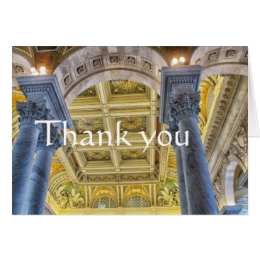 Library of Congress ceiling, thank you Card