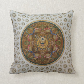 Library of Congress Ceiling Throw Pillow