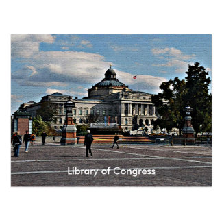Library of Congress in Mosaic Pattern Postcard