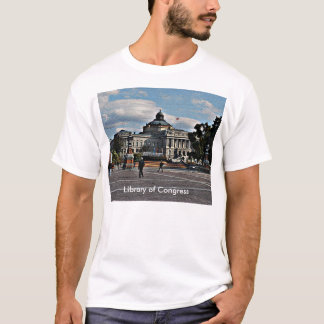 Library of Congress in Mosaic Pattern T-Shirt