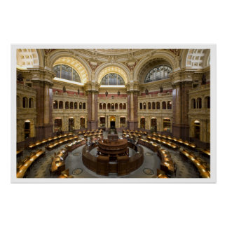 Library of Congress Reading Room, Washington DC Poster