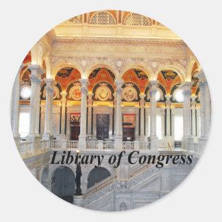 Library of Congress Round Sticker