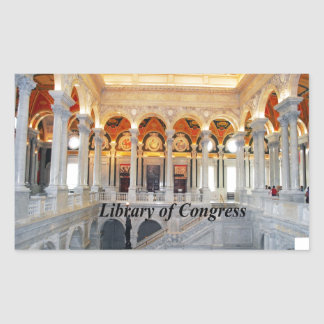 Library of Congress Rectangular Stickers
