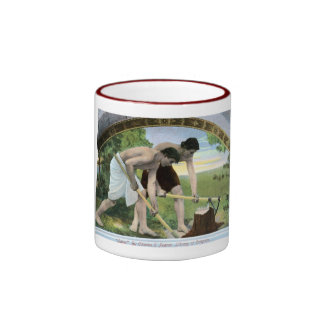 Library of Congress Vintage Ringer Coffee Mug