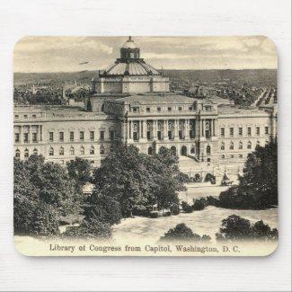 Library of Congress, Washington DC, 1912 Vintage mousepad