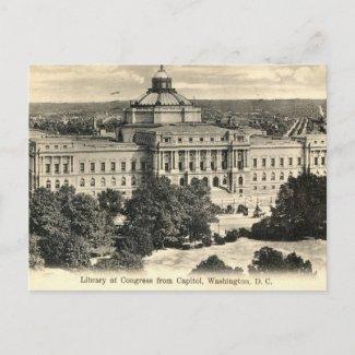 Library of Congress, Washington DC, 1912 Vintage postcard