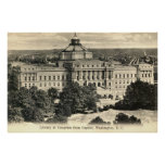 Library of Congress, Washington DC, 1912 Vintage Poster