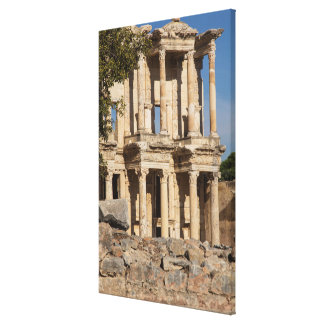 Library Of Ephesus Ruins Canvas Print