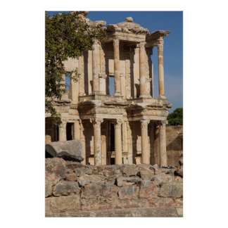 Library Of Ephesus Ruins Poster