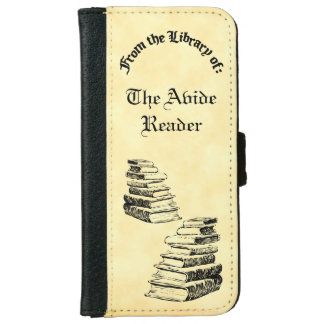 Library Of Old Books Custom iPhone Wallet Case