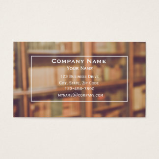 Library or Bookstore Business Card