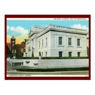 Library Orlando Florida Vintage Postcards