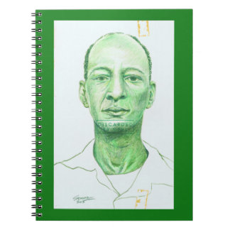 Library People 141 Colored Pencil Portrait Spiral Notebook