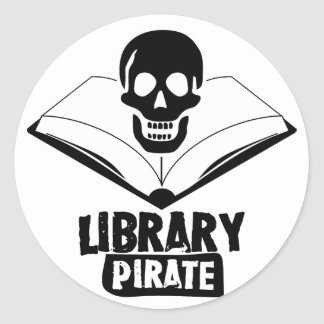 Library Pirate Classic Round Sticker
