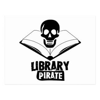 Library Pirate Postcard