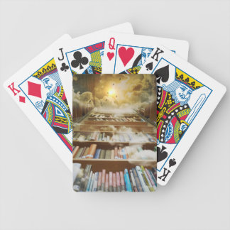 library bicycle playing cards