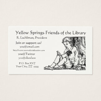 Library Poem Quote Regular Business Card