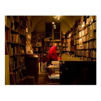 library posrcard postcard