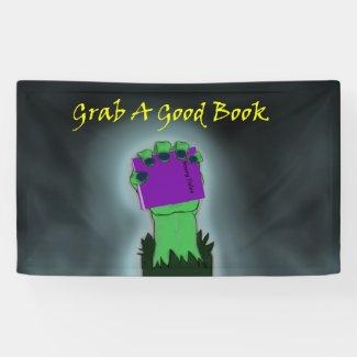 Library Reading Halloween Bulletin Board   3'x5' Banner