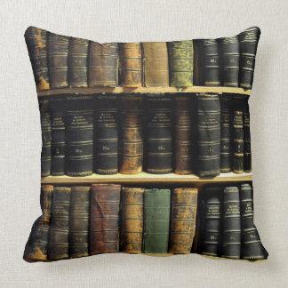 Library Reversable Throw Pillow