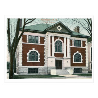 Library, Rochester, New Hampshire Vintage Postcard