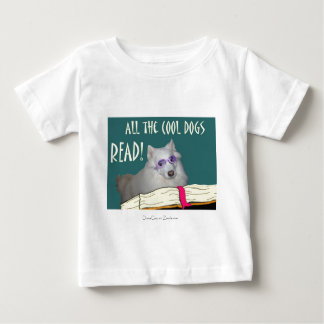 Library - Samoyed - Cool Dogs Read Literacy Baby T-Shirt
