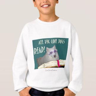 Library - Samoyed - Cool Dogs Read Literacy Sweatshirt