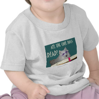Library - Samoyed - Cool Dogs Read Literacy Shirt