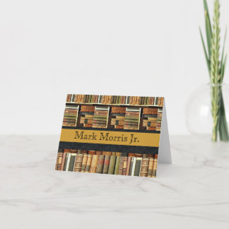 Library Scene Personalized Notecards