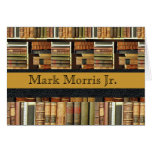 Library Scene Personalized Notecards Stationery Note Card