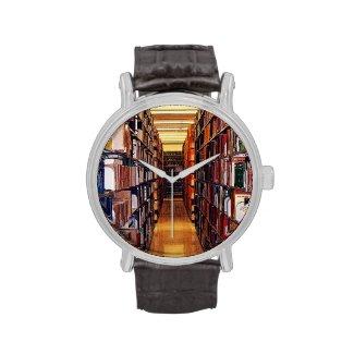 Library Shelves Wrist Watch