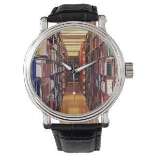 Library Shelves Wristwatch