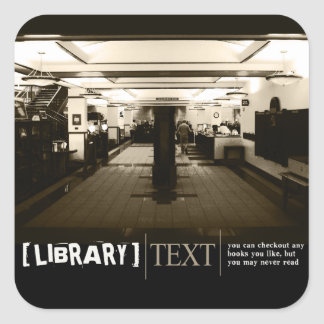 Library Square Sticker