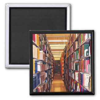 Library Stacks 2 Inch Square Magnet