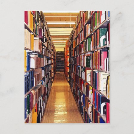 Library Stacks Calendar Post Card