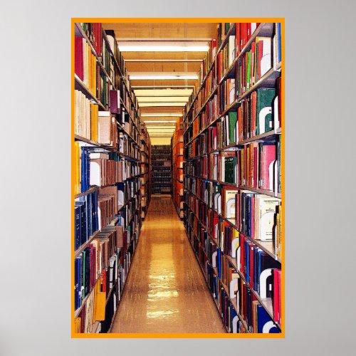 Library Stacks Print