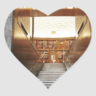 Library staira heart sticker