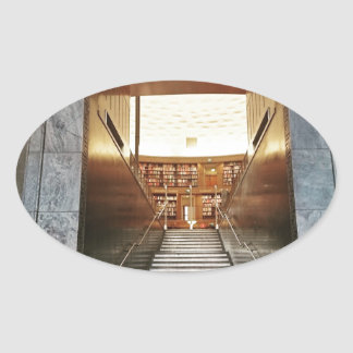 Library staira oval sticker