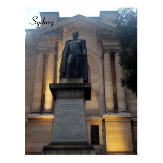 library sydney statue postcards