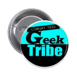 Library Tech Geek Tribe Button