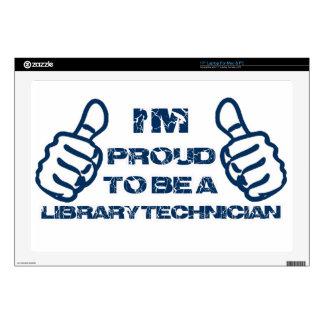 "Library technician design 17"" laptop decal"