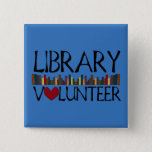 """Library Volunteer Books - Change Color Button<br><div class=""""desc"""">Designed using Inkscape  Change the color to match your local library. :)</div>"""