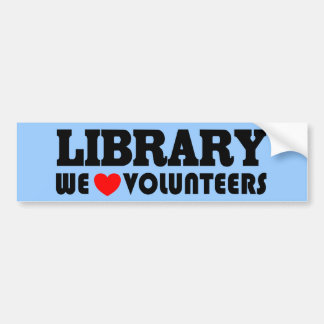 Library Volunteer Bumper Sticker