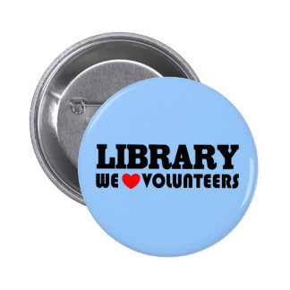 Library Volunteer Button