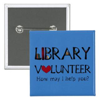 Library Volunteer Helper - Change Color Pinback Button