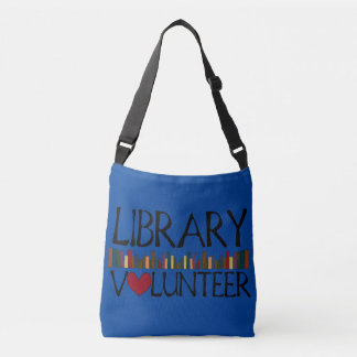 Library Volunteer with Books Crossbody Bag